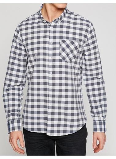 Ekose Desenli Uzun Kollu Gömlek-Koton